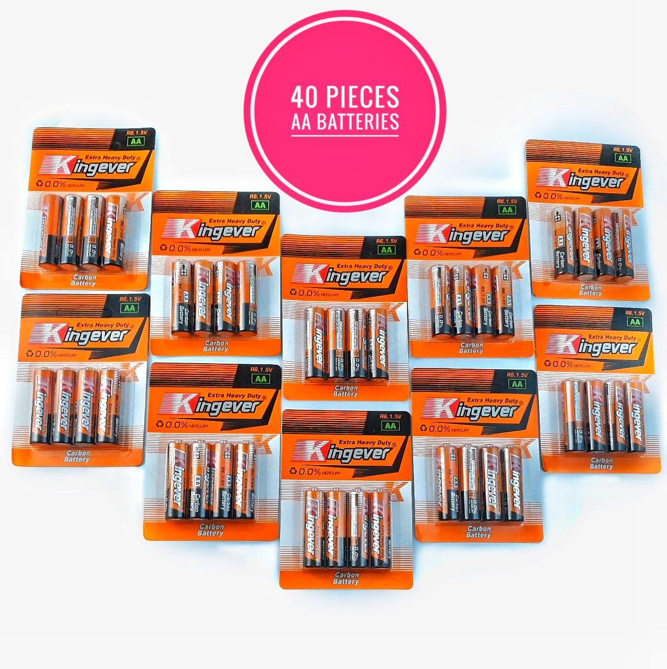 MMT Kingever AA Battery 40pcs - 1.5V Double A Batteries