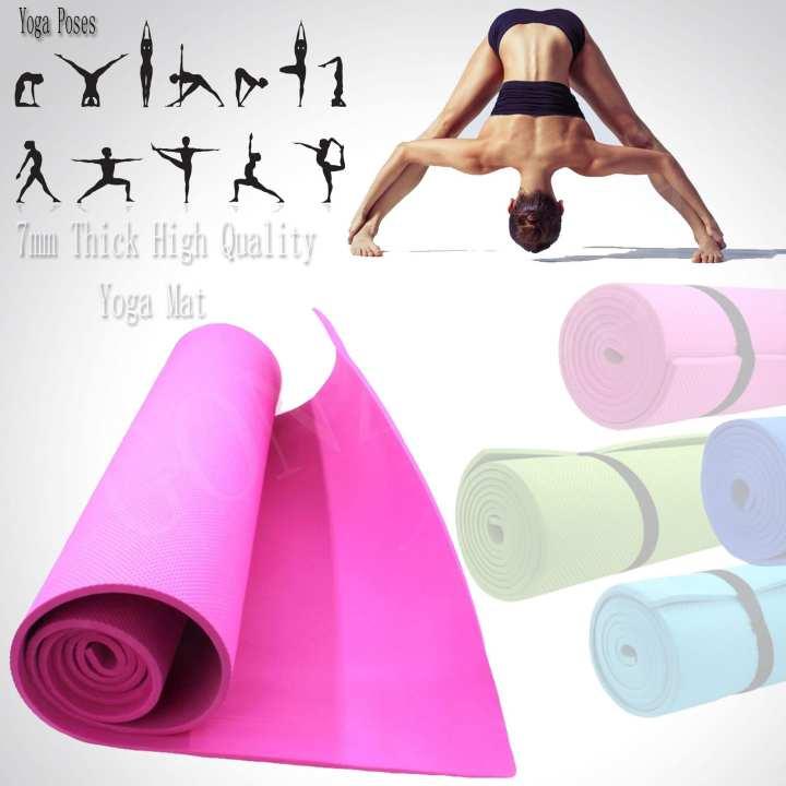 7mm Thick High Quality Yoga Mat (Pink)