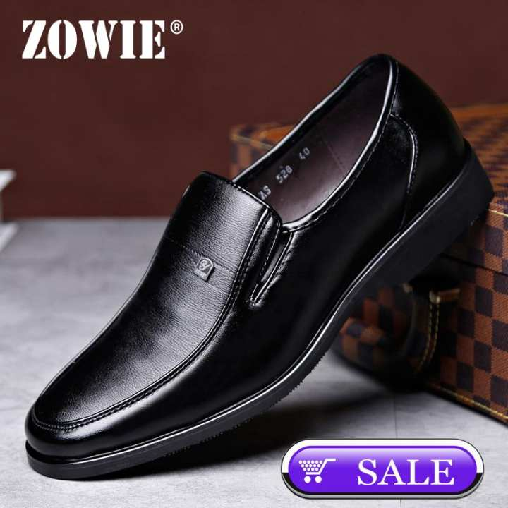 ZOWIE Men's Leather Shoes Fashion Men's Business Casual Shoes