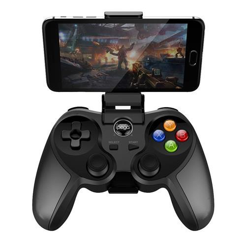 9078 Universal Wireless Bluetooth Game Controller with Bracket for Android / iOS / Tablet / TV / PC (Black)