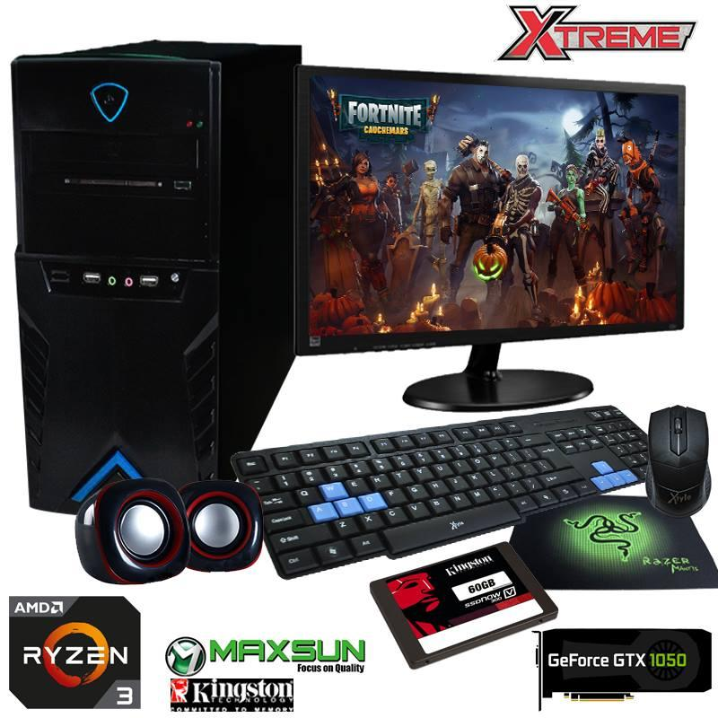 XTREME AMD RYZEN 2200G with Kingston SSD 60GB and Geforce GTX 1050 Desktop Gaming Package