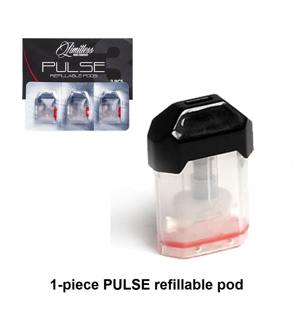 Limitless replacement refillable pods for Plyrock