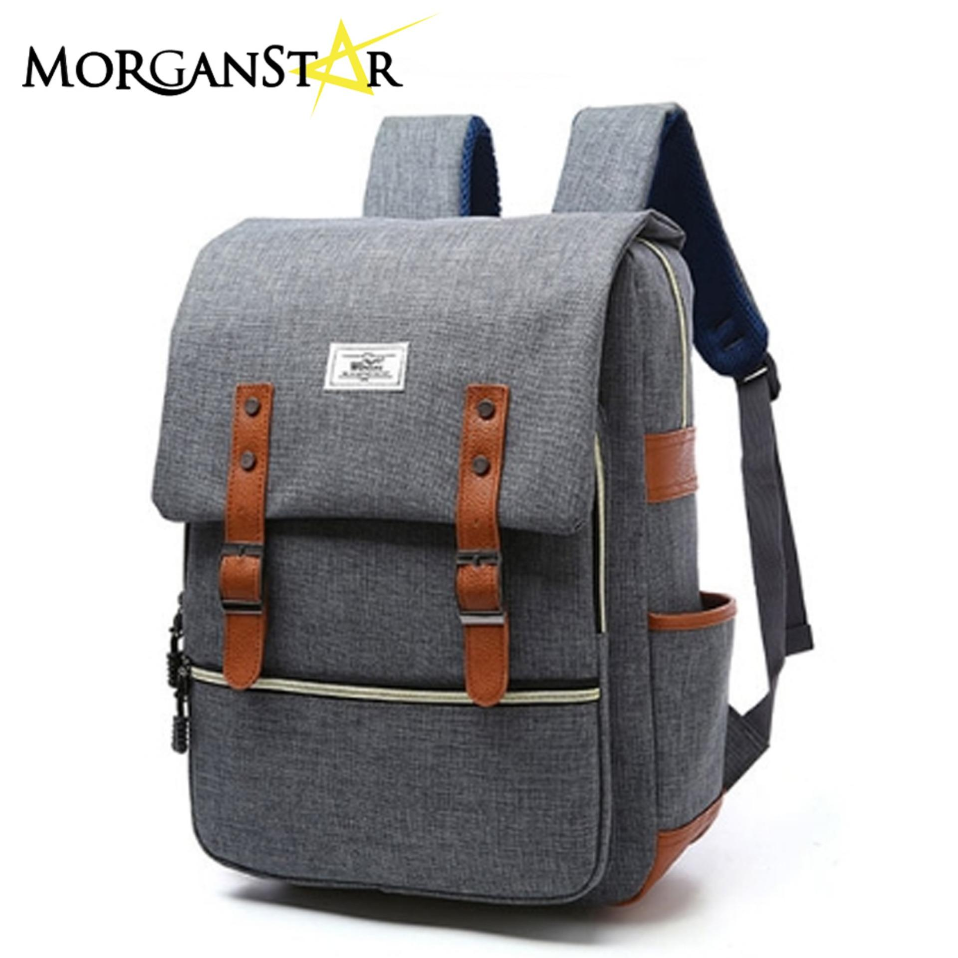 WOWANG Unisex Leisure Lightweight Travel Laptop Backpack Men Oxford Cloth Business Backpack (Gray)