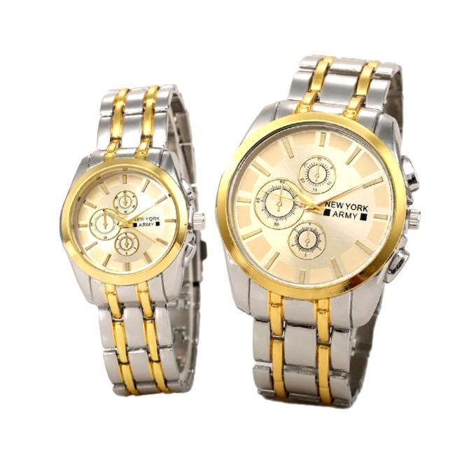 Newyork Army Couples Stainless Strap Watch