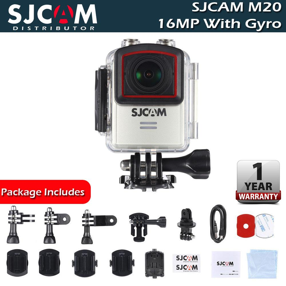 SJCAM M20 WiFi 16.35MP Sony IMX206 Gyro Anti Shake Sports Action Camera (Silver)
