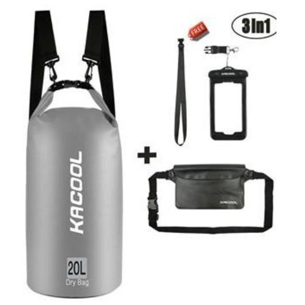 USA KACOOL Portable & Outdoor 20L Waterproof Dry Bag Set image on snachetto.com