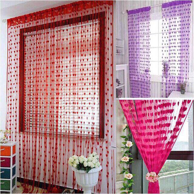 ✅Heart Style Line String Door Curtain assel Window Curtain-Edison Online Shop image