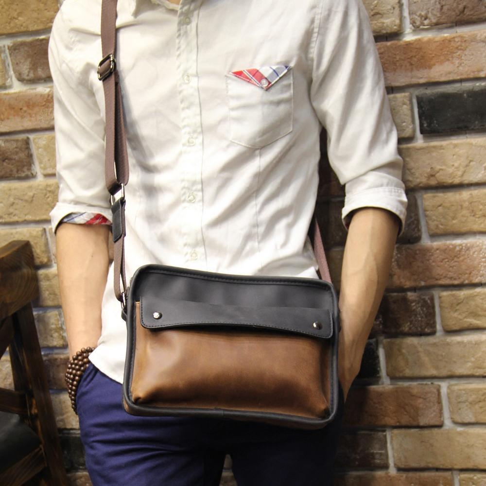 Men's Korean-style Retro Messenger Bag