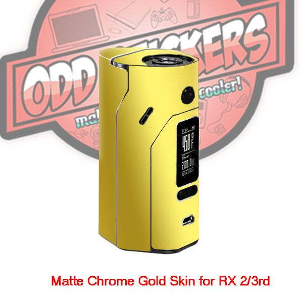 Odd Stickers Matte Chrome Gold skin for Wismec RX 2/3rd MOD