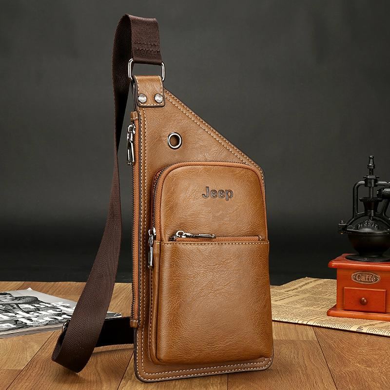 a221484df Product details of Mens PU Leather Shoulder Bags Vertical Crossbody Bag  Chest Bags JEEP-Buluo Male Business OL Fashion Bags bolsas male
