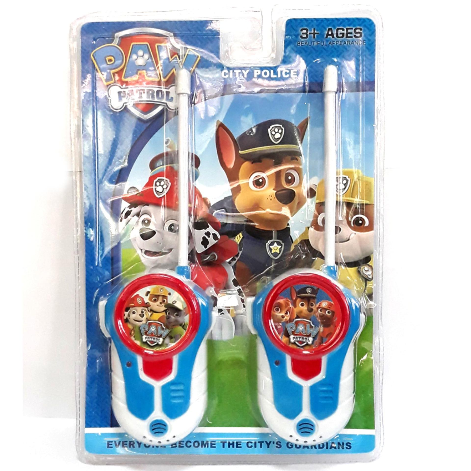 2 Pcs Paw Patrol Kids Walkie Talkie Portable 2 Way Toy Radios