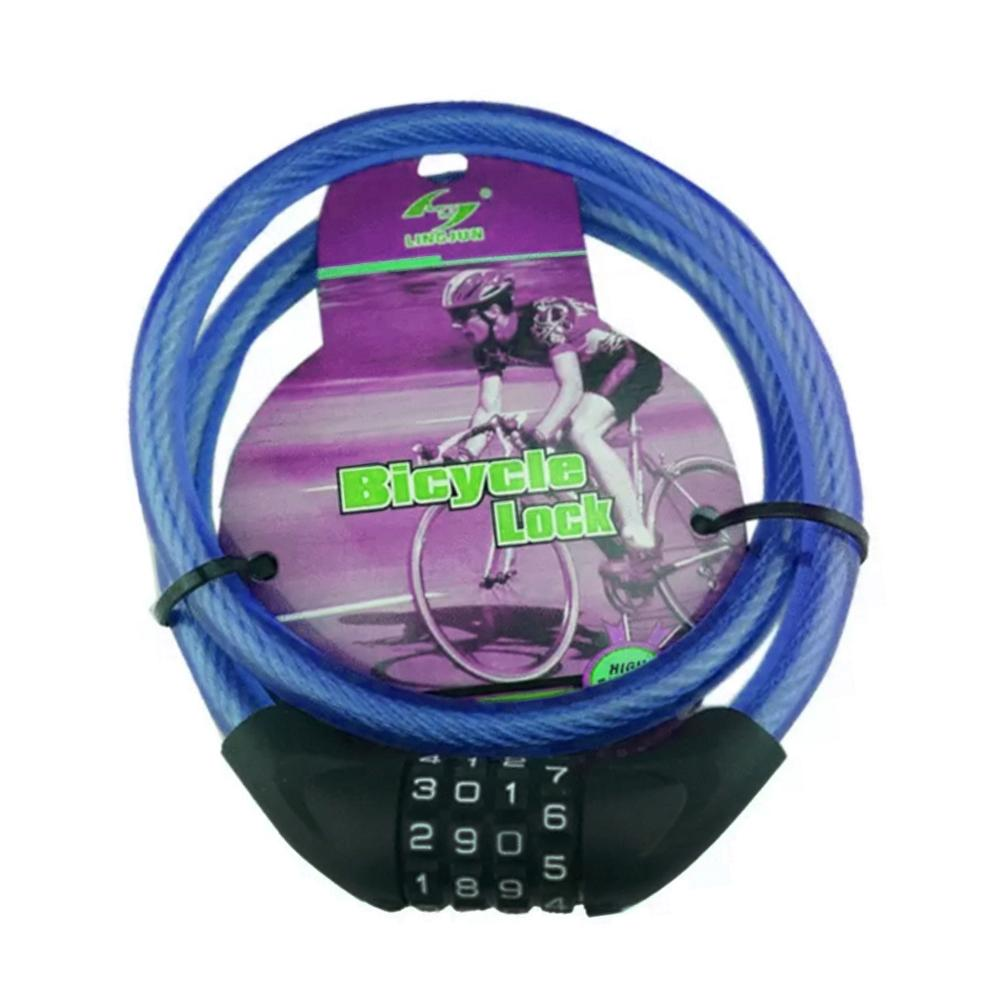 Bike Bicycle Motorbike Combination Cable Lock Anti Thief Security 4 Digit