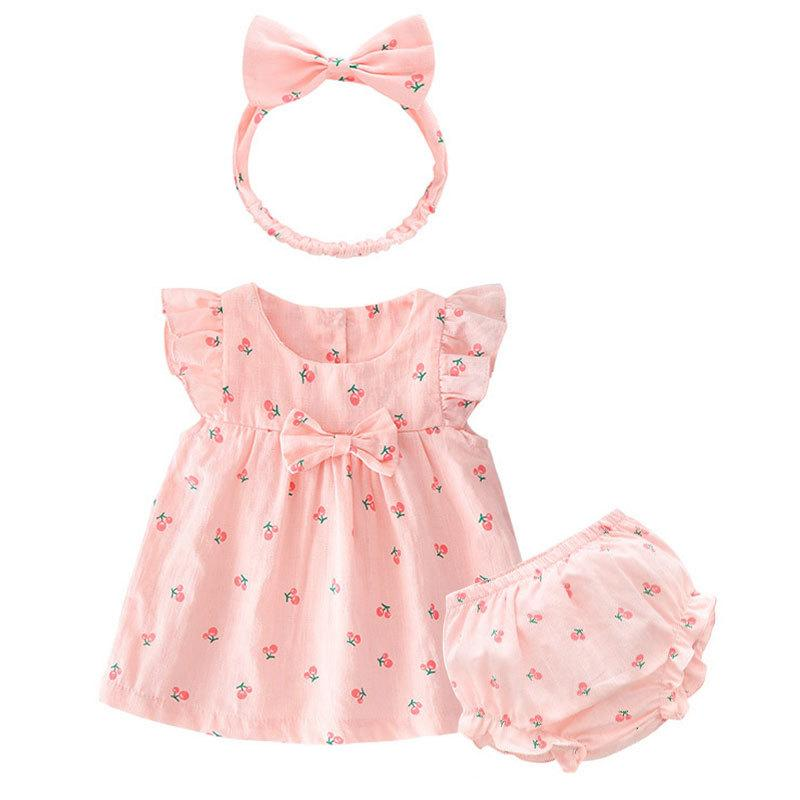 7e0b5af346662 Product details of Onesie Infant Summer Cute 0 Female Baby 1-Year-Old Set  Thin Newborn Clothes 3 Months Princess Skirt Summer 6