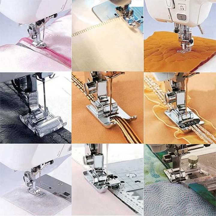 11pcs Stainless Steel Sewing Machine Accessories Presser Foot Feet Kit for Brother Singer Janome Domestic Sewing Machine - intl