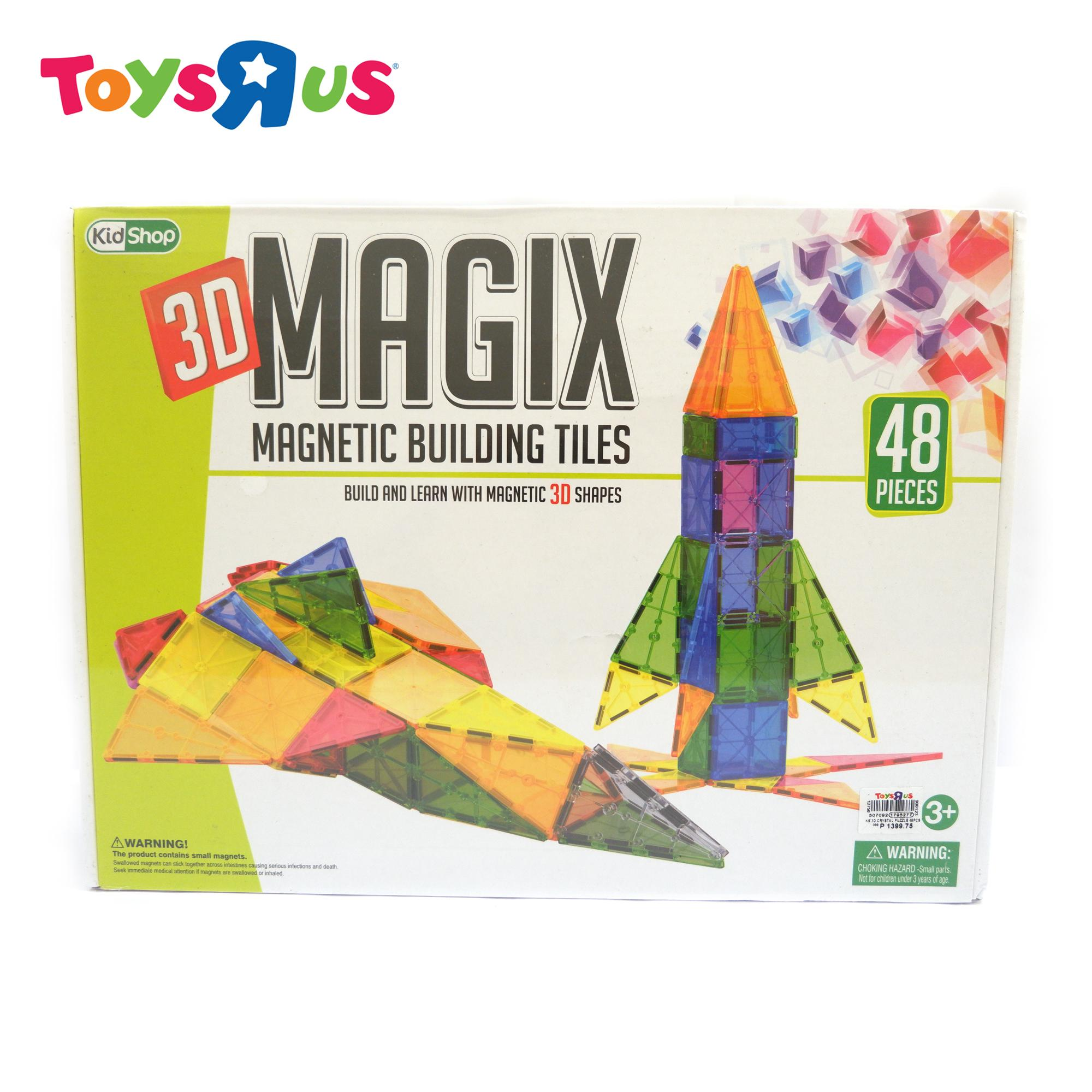 Kidshop 3D Magix 48 pieces Magnetic Building Tiles