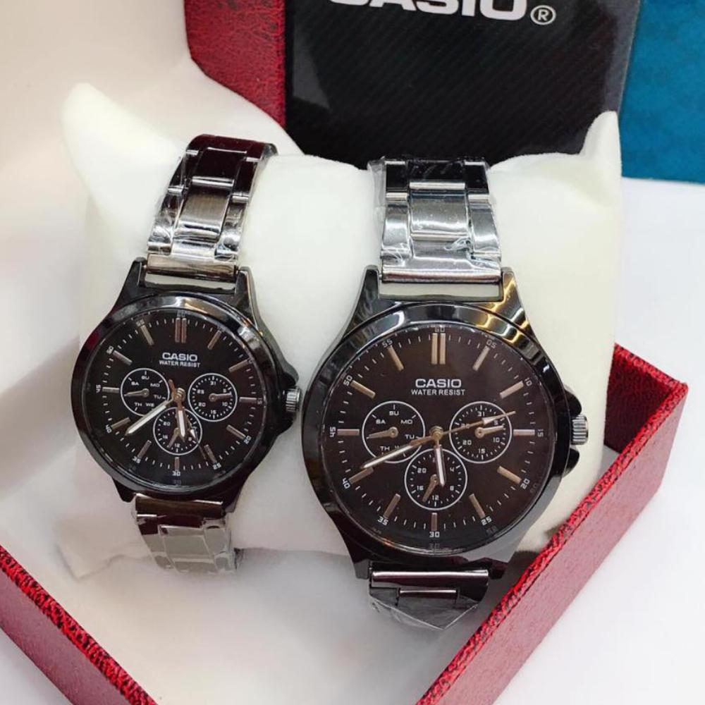 Casio Stainless Steel Couple Watch