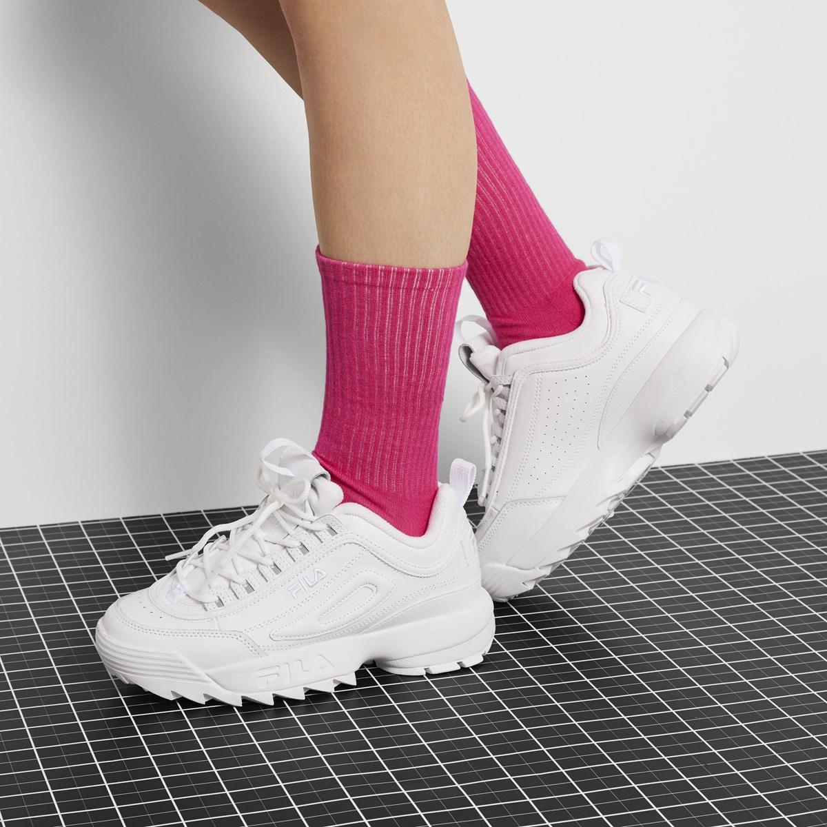 2019 New Fila_ Shoes Fila_ Disruptor Ii 2 Women Basketball Shoes Official White By Bjstgalt.