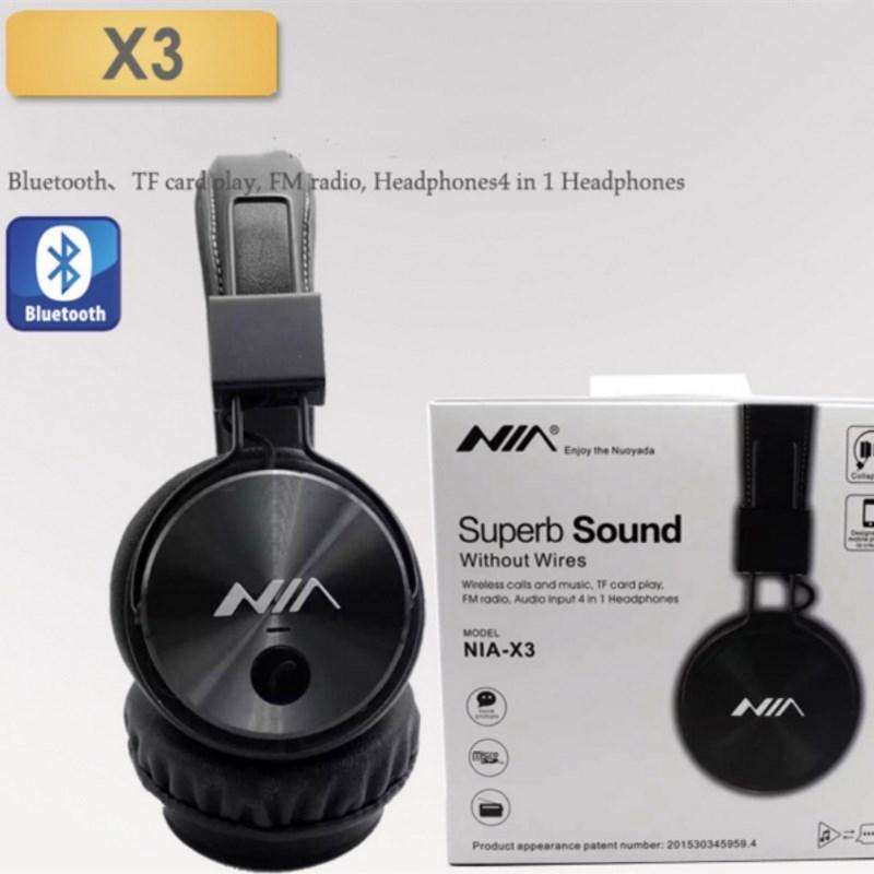 d7eb95fe4ec Nia X3 Bluetooth Headset Wireless Stereo Foldable TF Card Headphones With  MIC | Lazada PH