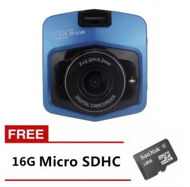 New 1080P 2.4inch Car DVR Camera Video Recorder (Blue) with FREE 16GB Memory Card