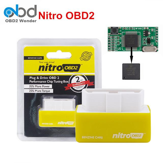 Nitro OBD2 For Petrol Car Chip Performance Tuning Plug & Play Auto ECU Remap Brand New(Yellow)[Benzine Cars][100% Original]