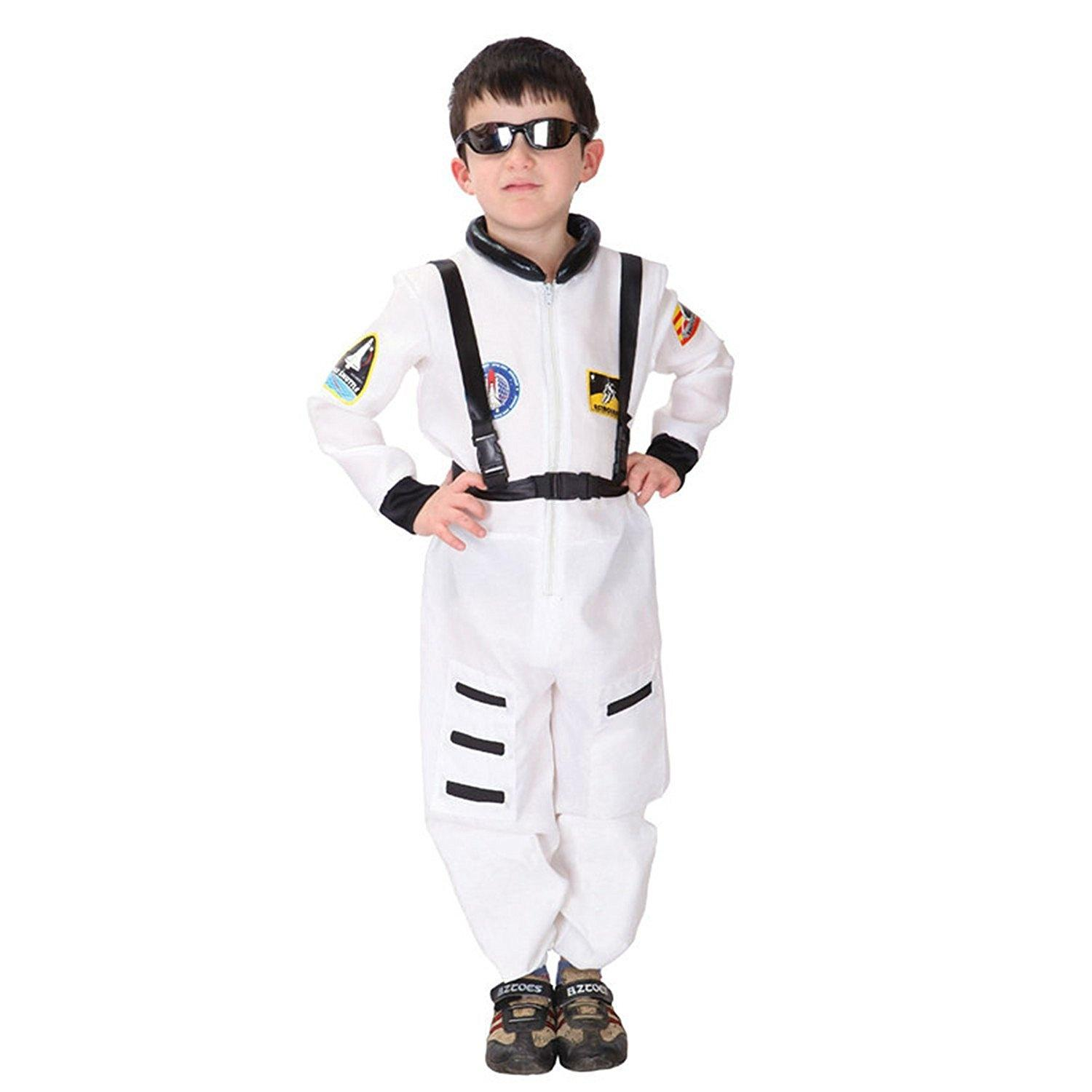 BOYS KIDS ASTRONAUT SPACESUIT SPACEMAN FANCY DRESS OUTFIT COSTUME 2-12 YEARS
