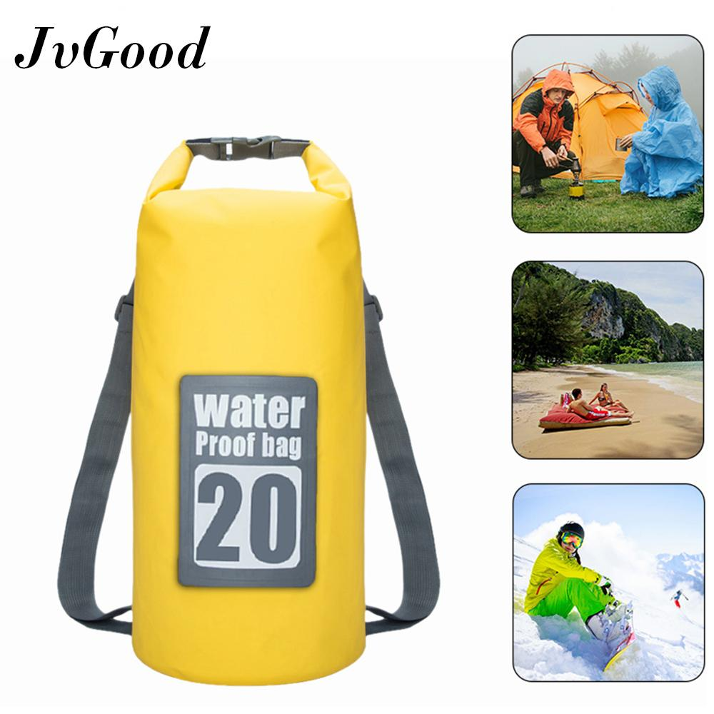 JvGood Waterproof Sport Dry Bag Roll Top Detachable Shoulder Straps Storage Bag Canoeing, Beach, Boating, hiking, Camping and Fishing 20L image on snachetto.com