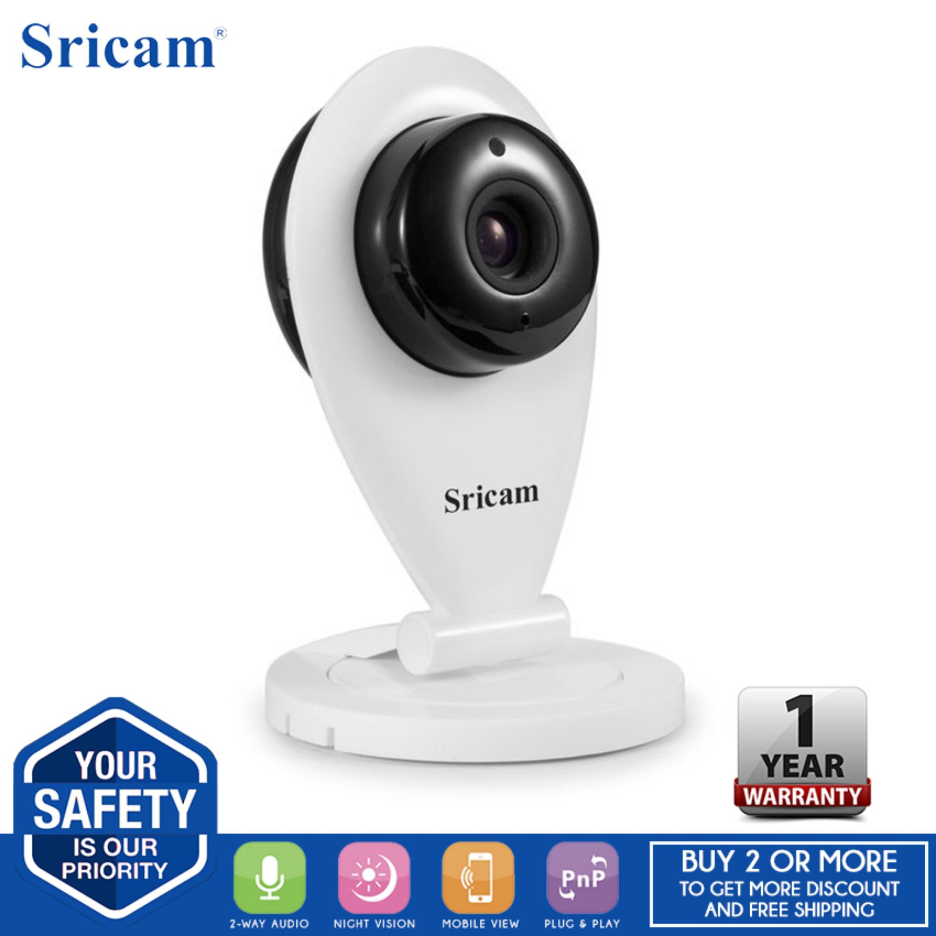 Sricam SP009 Wifi CCTV w/ Infrared Night Vision & Two-way talk feature Camera (White)