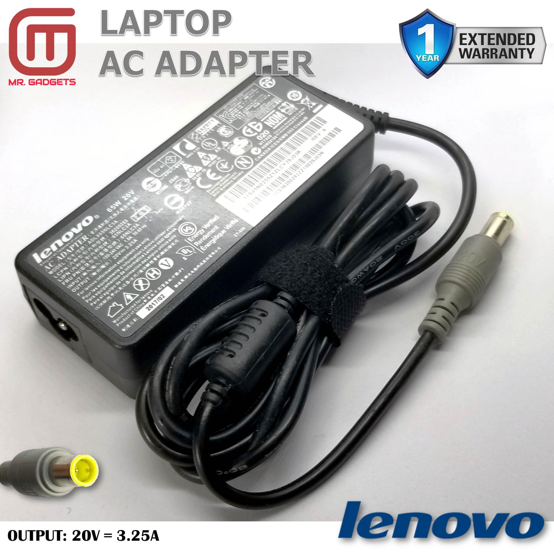 Laptop Ac Charger Power Adapter For Lenovo T60 T61 T60p Z60 T400s T400 T500 X200 X200s 20v 3.25a 65w Free Shipping Laptop Accessories