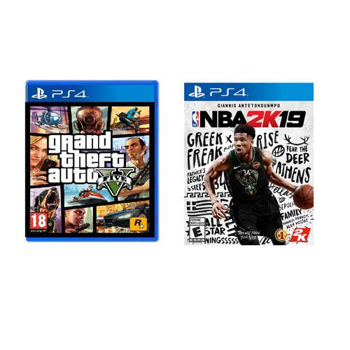Sony Playstation 4 Grand Theft Auto V and NBA 2K19 Game Bundle