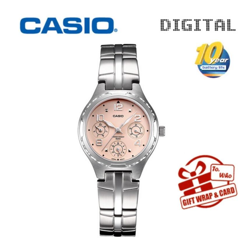 Casio Brand High quality Quartz-watches Stainless Steel Wristwatches Fashion Women Watch Ladies Wrist casual watch LTP-2064A