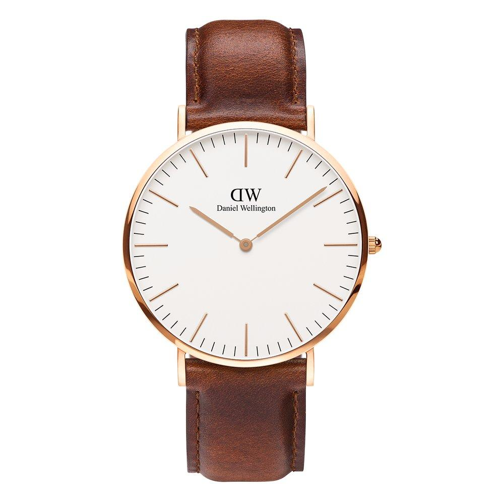 Daniel Wellington Classic St Mawes 40mm White Face Rosegold Men's Watch