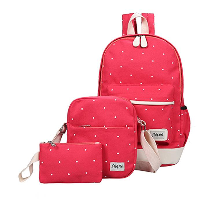 ONLNIC Han edition canvas backpack Three piece Bag#2108