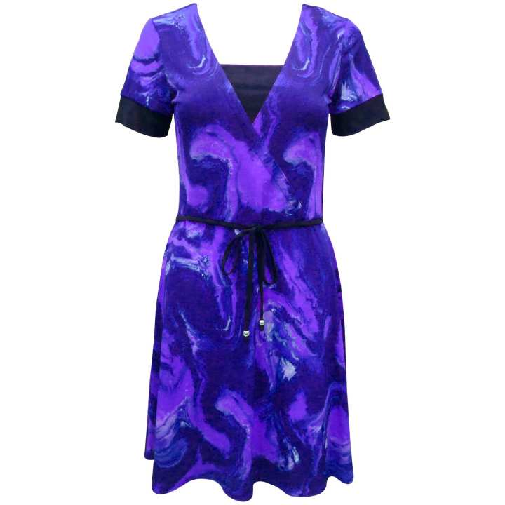 SO-EN FDR-1630 Layered Ruffle Dress (PTD VIOLET)