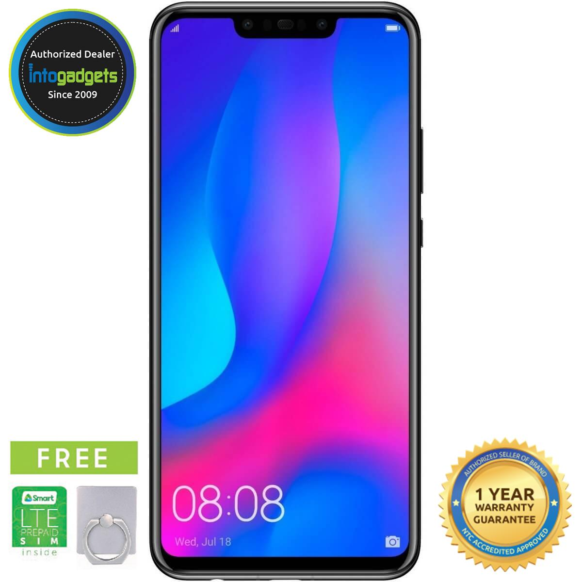 Huawei Nova 3 6GB RAM 128GB ROM FREE LTE Sim, Ring Holder
