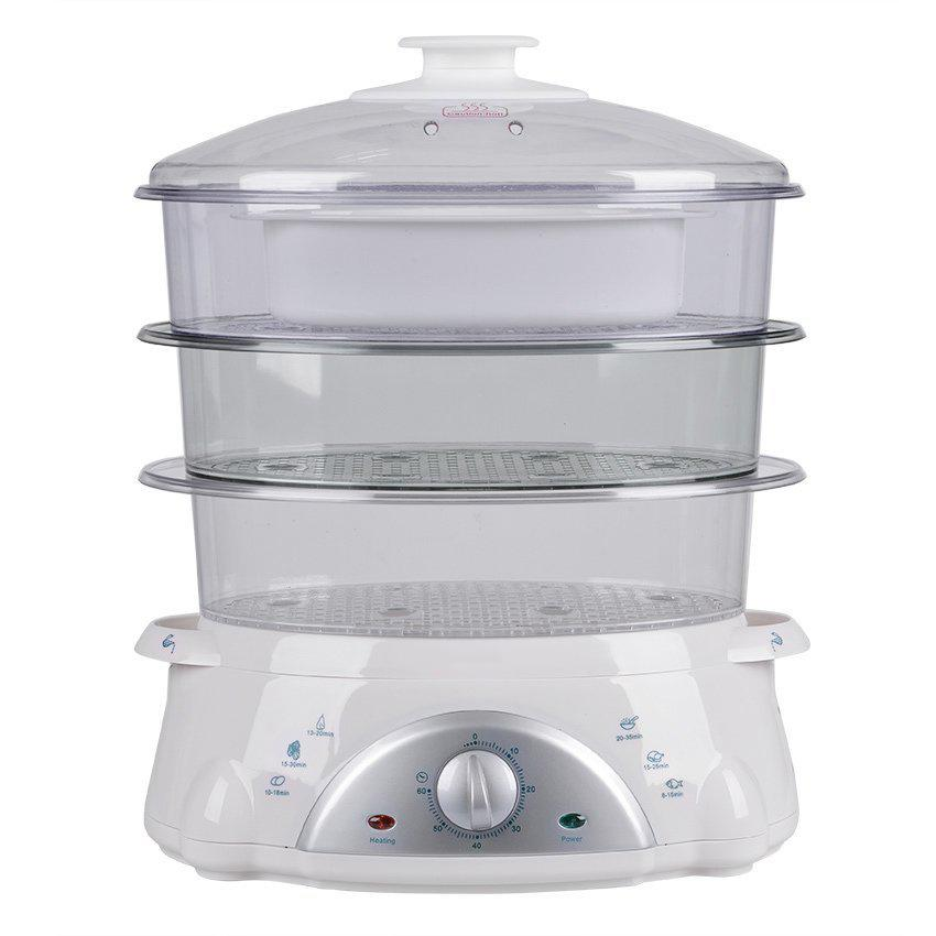 Keimav AS850-6013 8.5L Food Steamer (White/Clear)