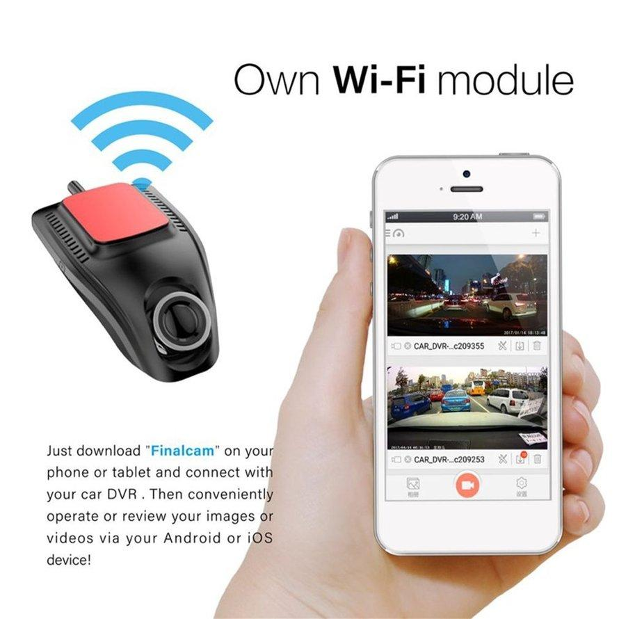 OSMAN Small Eye Dash Cam Car DVR Recorder Camera with Wifi Full HD 1080p Video