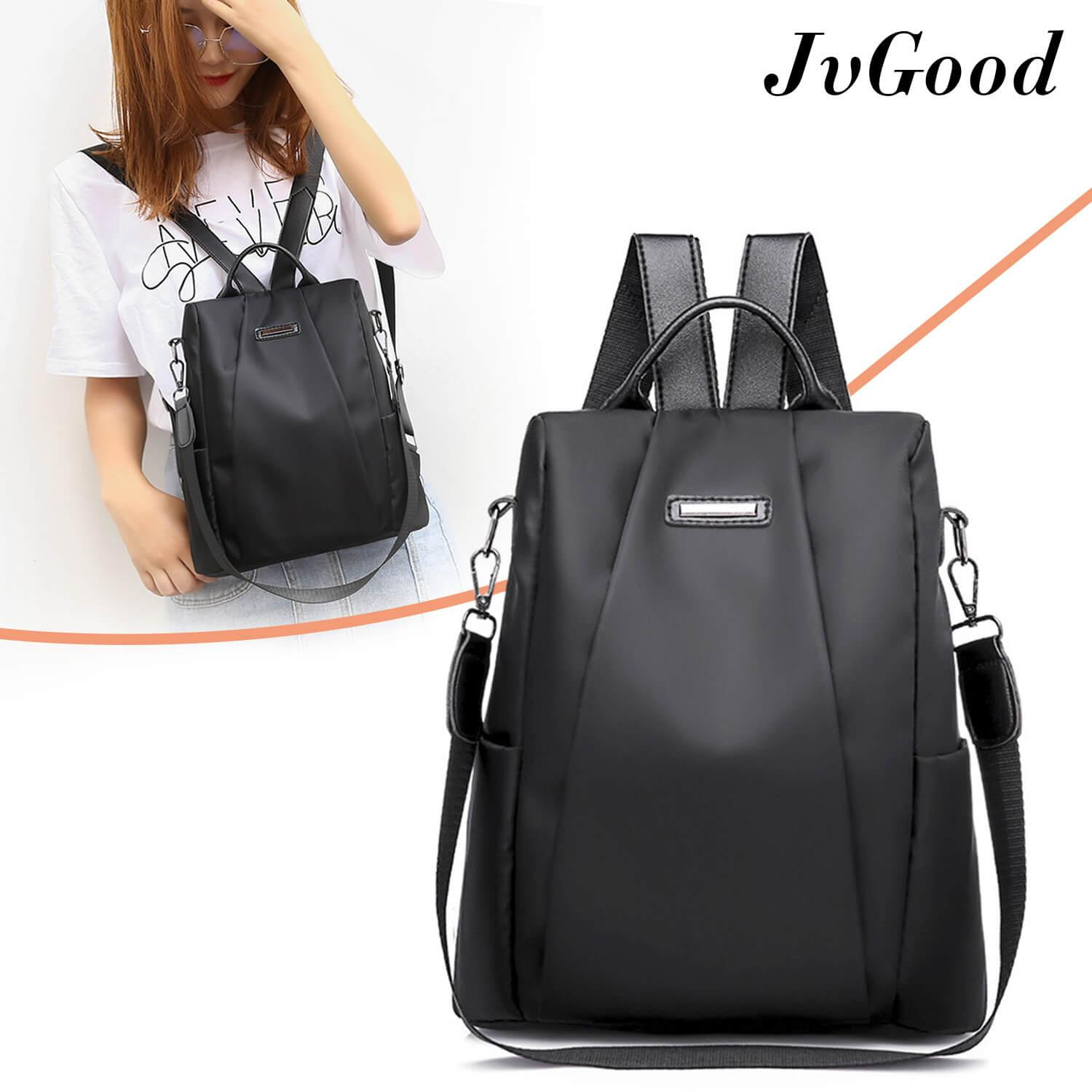 JvGood กระเป๋าสะพายหลัง กระเป๋าเป้ กระเป๋าแฟชั่นผู้หญิง Fashion Shoulder Bag Backpacks Laptop Computer Backpacks College School Bookbag  for Students Teenagers Ladies Waterproof Lightweight Oxford Daypack Anti-theft Bag