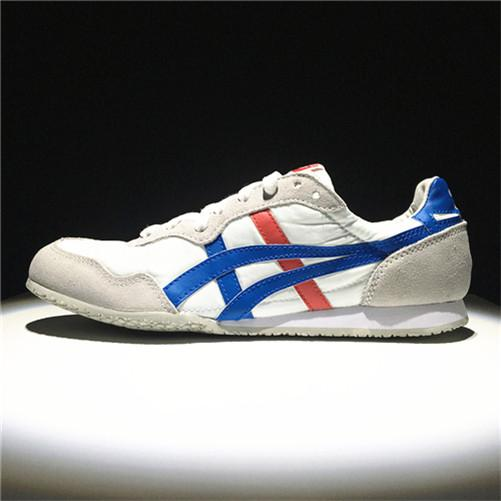 "100% Brand Asic Official ""ONITSUKA Tigers"" MEN/WOMEN Running Shoe Red White Sneakers Serrano"