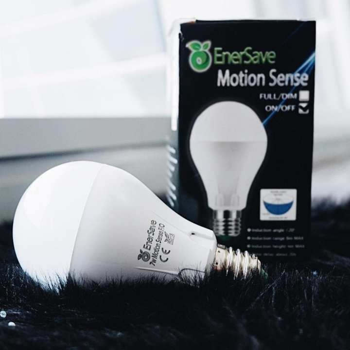 EnerSave Motion Sense FO LED Bulb - Automatically turns on when movement is detected. 2 sensors built in to detect motion and ambient light.Great lighting for hallways, stairs, storage rooms, garage, garden and security light.