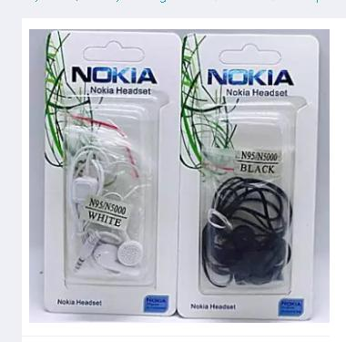 1 Pcs Nokia N5000 In-Ear Earphones (Black)
