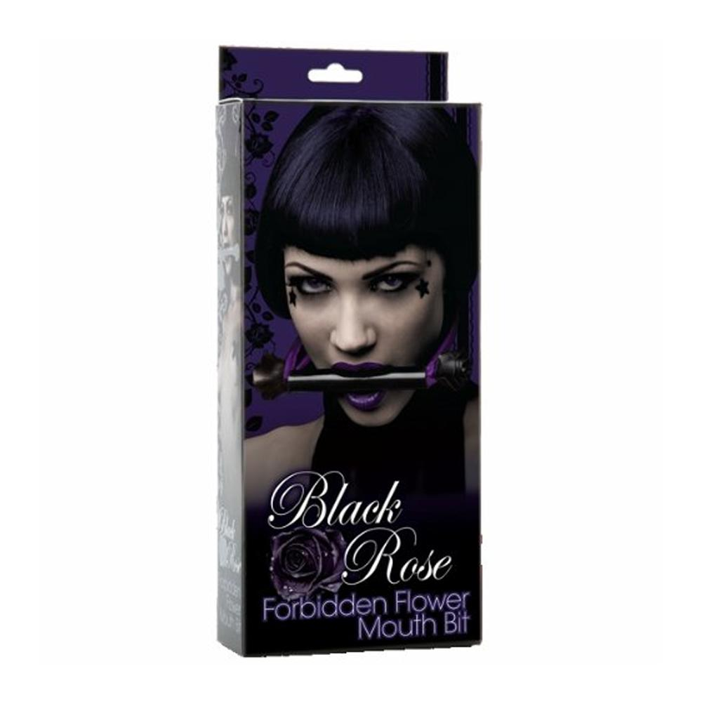 Doc Johnson Black Rose Forbidden Flower Mouth Bit (Black/Violet)