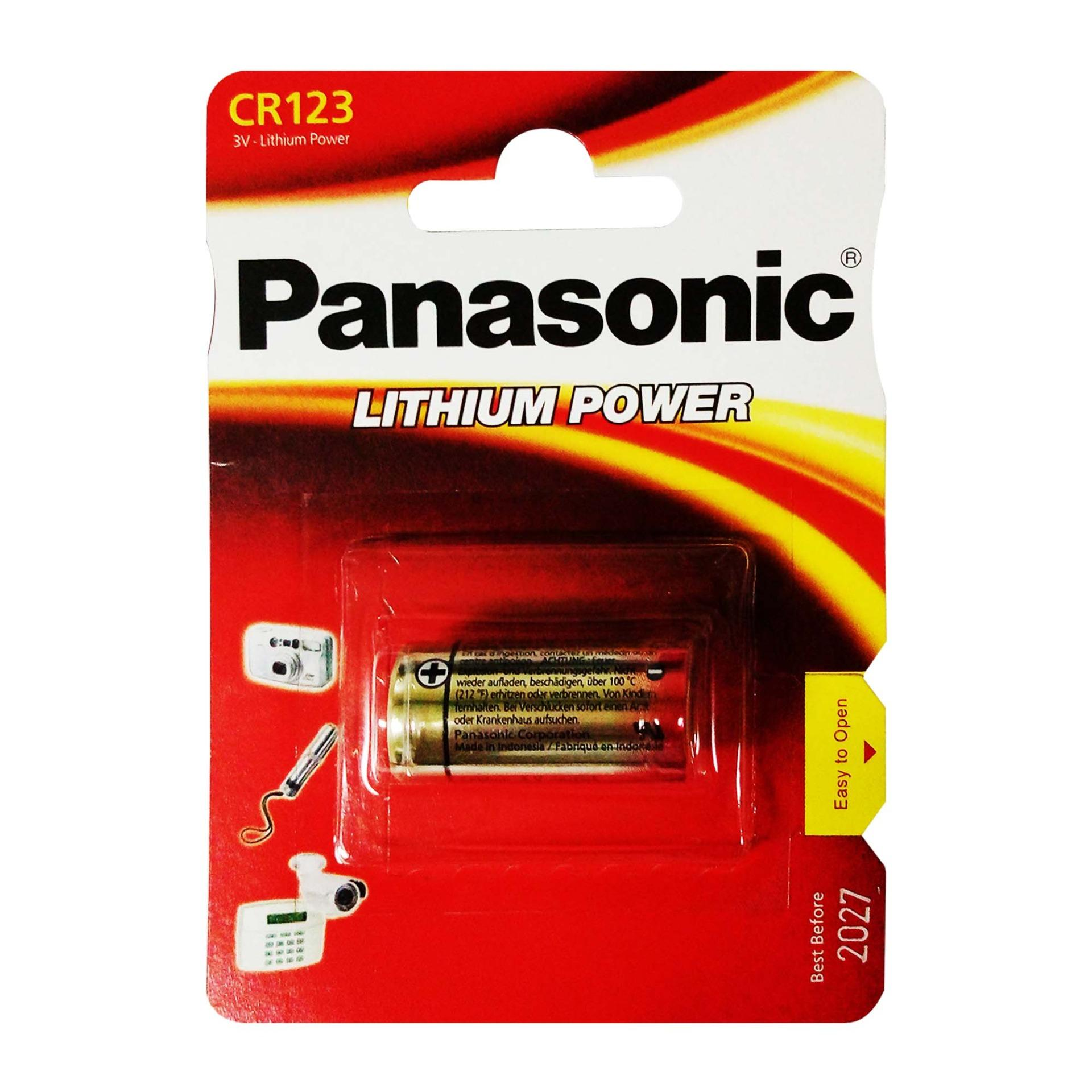 Panasonic Lithium Battery CR123A product preview, discount at cheapest price