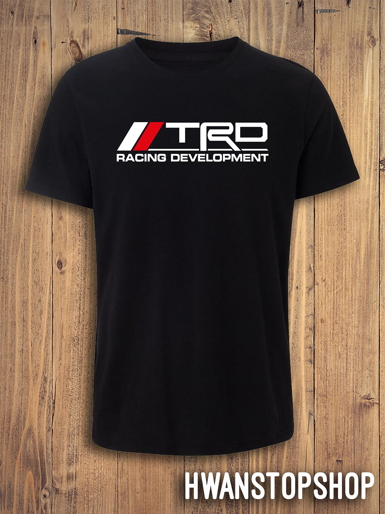 Kids T-Shirt Tops Black Racing Development TRD Unisex Youths Short Sleeve T-Shirt