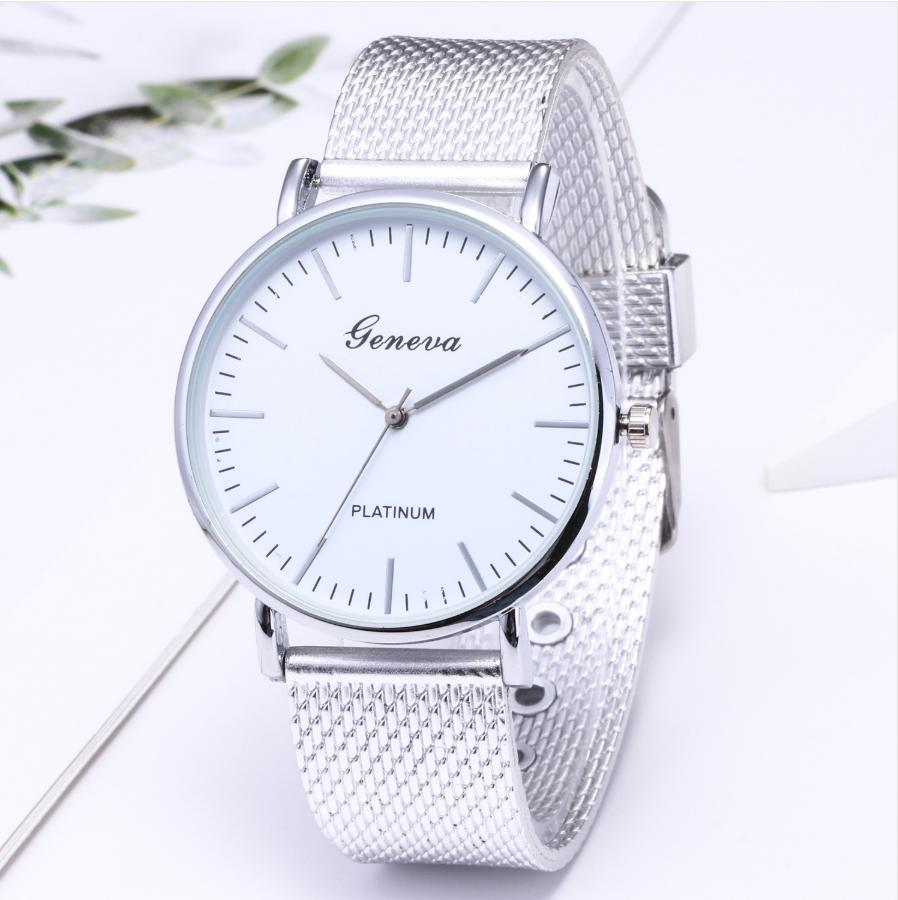 Geneva Rubber Fashion Mesh Strap Design Watch