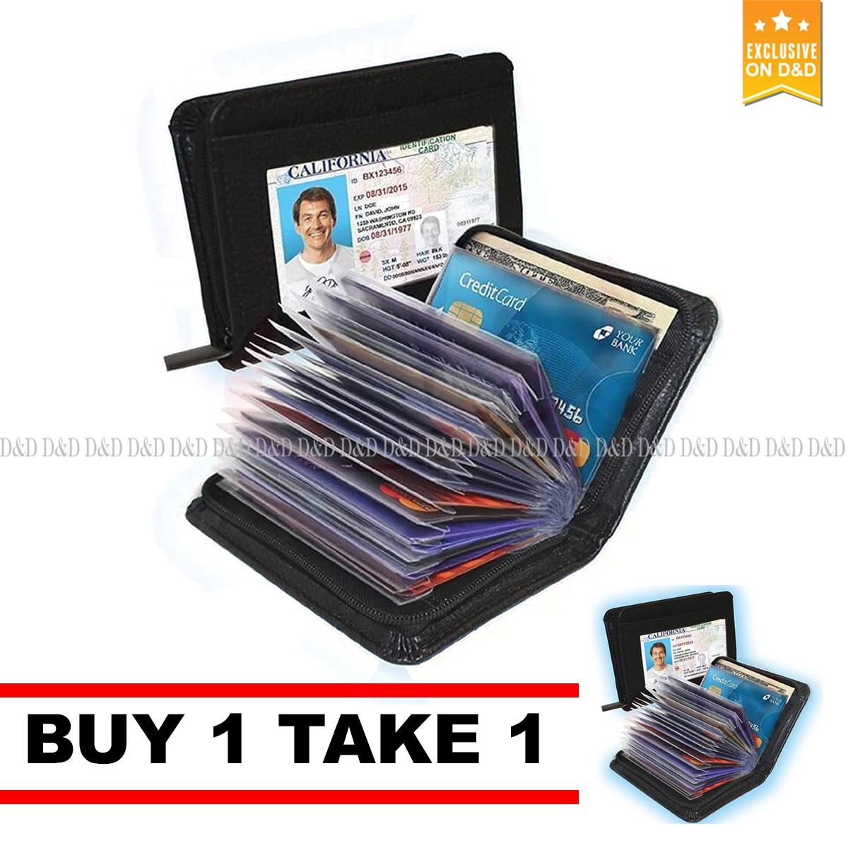 D&D Security Credit Card Wallet  (Black) By 1 Take 1 product preview, discount at cheapest price