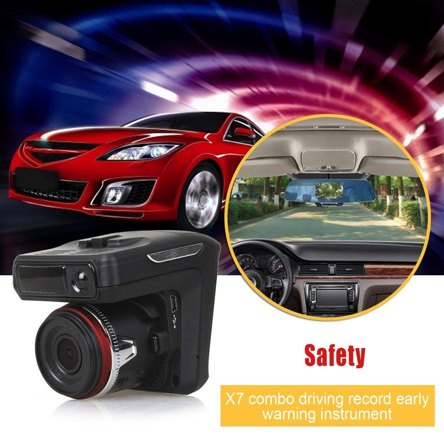 OSMAN 2 in 1 Night Vision Car DVR Radar Detector GPS Russian Pre-warning Recorder
