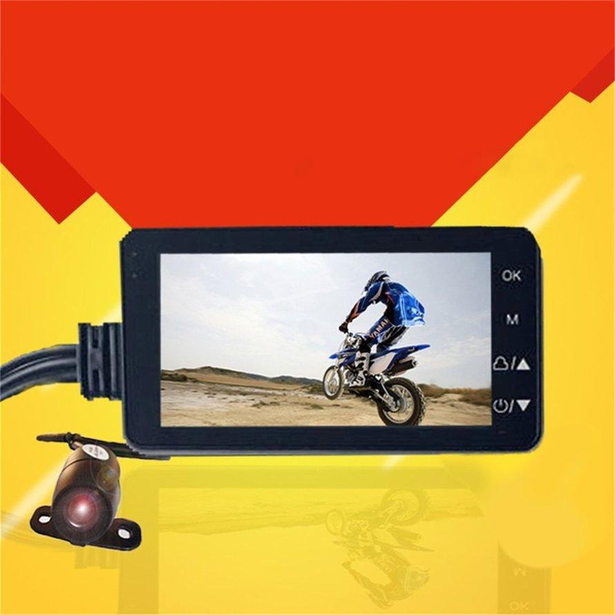 OSMAN HD Motorcycle Driving Video Recorder with Front&Rear View Camera Night Vision
