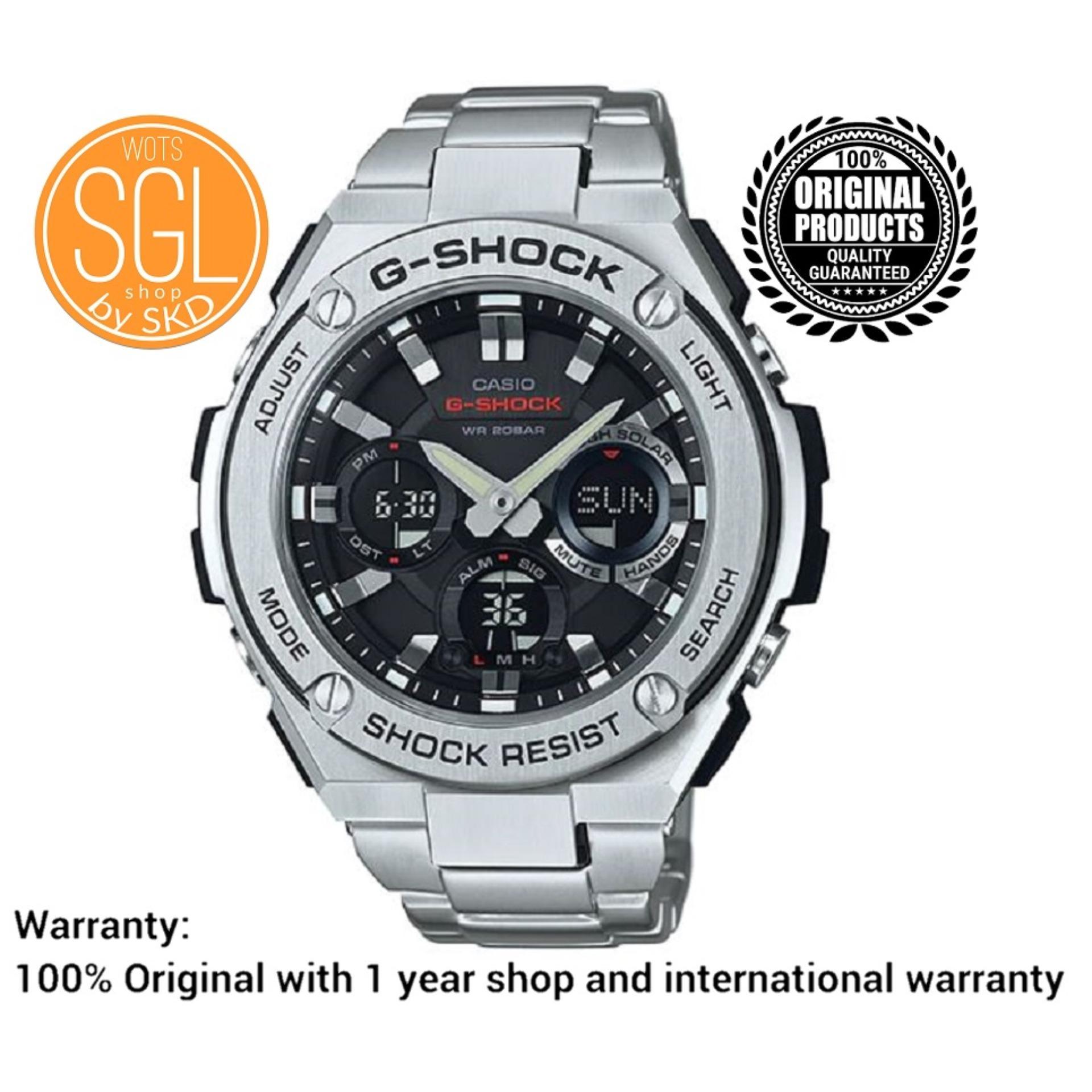 Casio G Shock G Steel Solar Powered Silver Watch Gsts110d 1 Sgl Wots