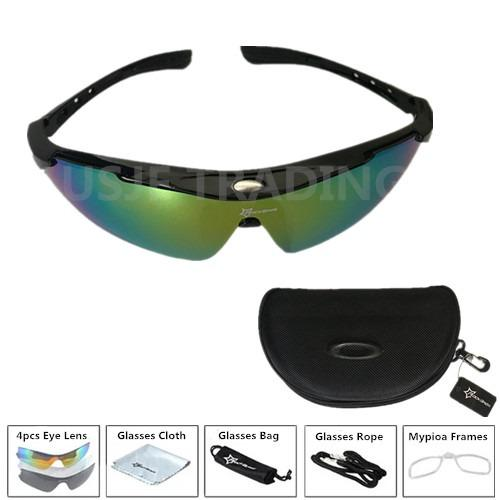RockBros Bike Cycling Sunglasses Goggles Eyewear Casual Sunglasses Black