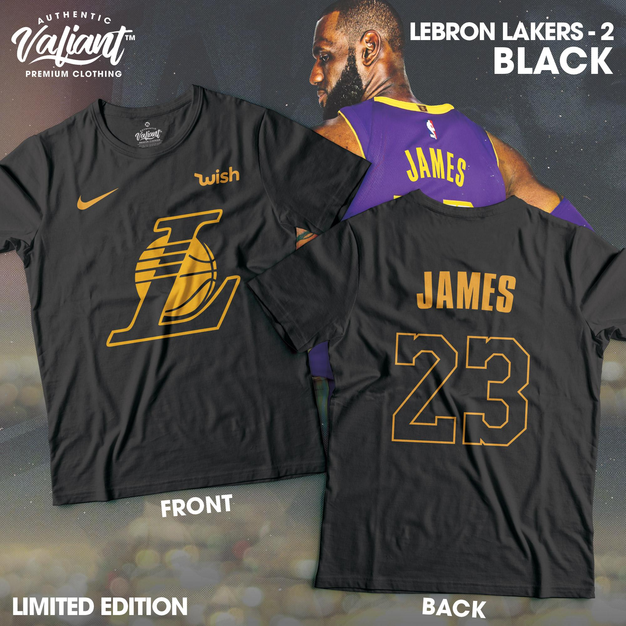 more photos c85e1 129af LeBron James in Lakers Ver 2 - NBA Shirt - Valiant Premium Clothing